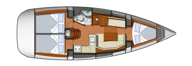 boat Sun Odyssey plans layout Copia