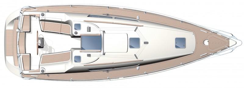 boat Sun Odyssey plans pianta Copia